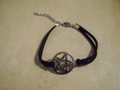 Pentacle & Suede Bracelet by CellDara on Etsy, $4.00