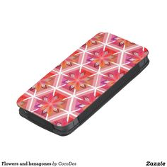 Keep your #smartphone safe with this floral #iPhone SE/5/5S/5C pouch. #zazzle http://www.zazzle.com/flowers_and_hexagones_iphone_se_5_5s_5c_pouch-256227579903776291