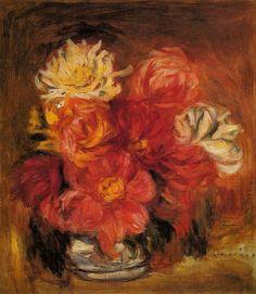 Dahlias.Pierre-Auguste Renoir (1841 - 1919)