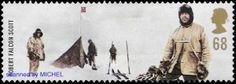 Robert Scott mit drei Mitgliedern seiner Mannschaft am Südpol, MiNr. 2109.