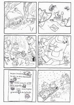 6 images séquentielles de l'album: la lettre du Père-Noël de Yukiko Tanno et Mako Taruishi aux éditions