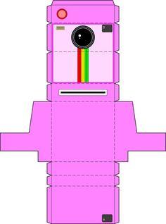 Kamera basteln - rosa. www.limmaland.com Cool Paper Crafts, Diy Paper, Fun Crafts, Diy And Crafts, Doll Crafts, Diy Doll, Diy Gift Box, Diy Gifts, Diy For Kids