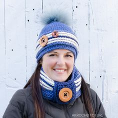 Crochet work sock hat and cowl pattern by Akroche tatuk. (english and french) PATRON PDF Front Post Double Crochet, Half Double Crochet, Easy Crochet Blanket, Crochet Blanket Patterns, Adobe Reader, Foundation Single Crochet, Work Socks, Crochet Chain, Crochet Baby Booties