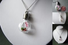 Origami Orchid Necklace by Paper-Peaches.deviantart.com