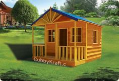 Bear Creek #cubbyhouse is going to give your kids their own home-away-from-home outdoor play house lodge where their imaginations can run wild. These houses are great for creative play for young kids. Sells for between $1647 to $1847 for different sizes http://cubbykraft.com/cubbyhouses/bearcreek_lodge.htm