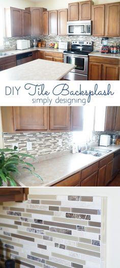 Cool Tile a Kitchen Backsplash In e Day Pinterest Plan - Awesome Diy Tile Backsplash Beautiful