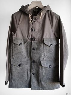 Nigel Cabourn - Mackintosh x Harris Tweed Cameraman Jacket — E-G