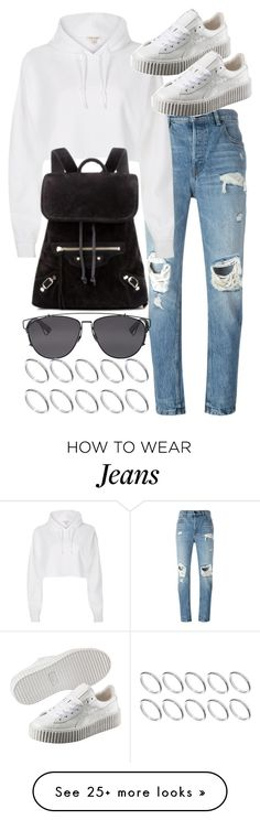 """""""Untitled #19992"""" by florencia95 on Polyvore featuring Alexander Wang, River Island, Puma, Balenciaga, Christian Dior and ASOS"""