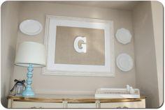I Heart My Glue Gun: Cute Burlap Frame