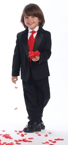 Boy's 4-7 Tuxedo with Color Change Vest - Also sizes 7-14 Starting at $96.00
