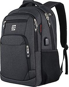 New Laptop Backpack,Business Travel Anti Theft Slim Durable Laptops Backpack USB Charging Port,Water Resistant College School Computer Bag Women & Men Fits Inch Laptop Notebook - Black online - Chicideas Best Laptop Backpack, Laptop Rucksack, Computer Backpack, Computer Bags, North Face Backpack, Black Backpack, Travel Backpack, Laptop Bags, Buy Backpack