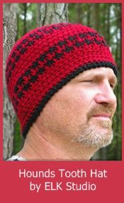 Free Crochet Hounds Tooth Hat Pattern 0c310e9228b