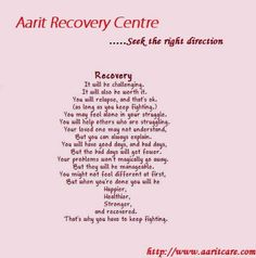 About Recovery from alcohol. Drug Addiction recovery