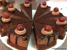 This Chocolate Cake with Tart Cherries is a real treat for the holidays and not only. Valentines Day is also a great opportunity to impress your partner with this one. If you like to bake from scratch, you will enjoy making this Frosting Recipes, Dessert Recipes, Desserts, Chocolate Lovers, Chocolate Cake, Romanian Food, Romanian Recipes, Cherry Tart, Let Them Eat Cake