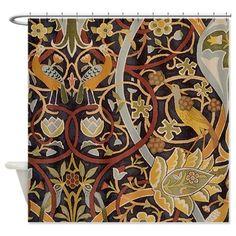 William Morris Bullerswood Shower Curtain On CafePress Craftsman Showers Bathroom