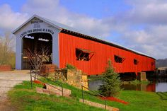Indiana's Most Famous Covered Bridge by David A. Owens Photography, via Flickr arsonist destroyed bridge in 2005 orig built 1868, rebuilt 2006