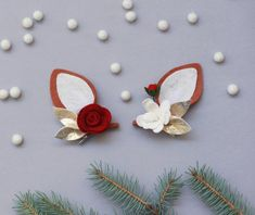 Holiday 2018 || Holiday Fawn Ears Holiday Style, Holiday Fashion, Holiday Decor, Holiday Photos, Felt Flowers, Ears, Little Girls, Christmas Ornaments, Gifts