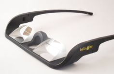 Belaggles Belay Glasses are a form of prism glasses designed specially for Rock Climbing! To put it simply, Belaggles are belay glasses that allow you to look straight ahead, but see upward.