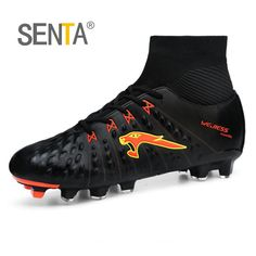 buy popular d2a74 6f73a SENTA New Men Soccer Shoes FG Low Ankle Superfly Football Boots Kids  Original Gold Metallic Cleats