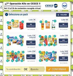 ¡Ya está aquí la séptima edición de #OperaciónKiloCESCE! Es muy sencillo: por cada kilo que dones al Banco de alimentos, nosotros donamos otro.  Participa en cesceoperacionkilo.org