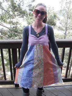 Sweetheart Patchwork Sundress by elliesweatshop on Etsy, $32.00