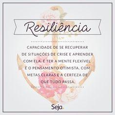 Seja resiliente, acredite na sua força no seu potencial, creia que é capaz e você será!  https://www.facebook.com/projetosejavoce/ https://www.instagram.com/projetoseja #sejaresiliente #resilience #resiliencia #osegredo #frasesdeauto-ajuda #força #focoforçafé #staystrong #frases