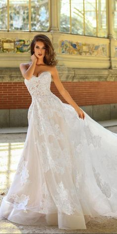 5a28cd9219fd a line lace strapless sweetheart neckline with train victoria soprano 2018 wedding  dresses style hanna #