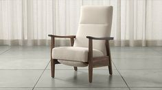 A recliner I don't hate! Greer Fabric Recliner (sustainable wood) | Crate and Barrel