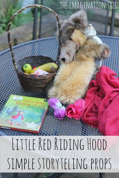 Little Red Riding Hood Storytelling Dramatic Play - The Imagination Tree Red Riding Hood Story, Little Red Ridding Hood, Little Red Hen, Traditional Fairy Tales, Traditional Stories, Eyfs Activities, Work Activities, Toddler Activities, Story Sack