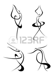 Yoga Symbols Ha Just Like Gesture Drawings Do A Charcoal Rendition