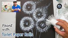 Toilet Paper Rolls Dandelion Painting Technique for Beginners ♡ Maremi's Small Art ♡ Watercolor Painting Techniques, Simple Acrylic Paintings, Easy Paintings, Watercolor Paintings, Gouache Painting, Painting Abstract, Drawing Techniques, Painting Art, Body Painting