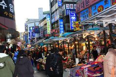 Namdaemun market is one of the largest wholesale markets in Seoul in Korea.