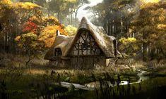 """Maleficent"" by Adam Brockbank - Modern Fantasy City, Fantasy House, Fantasy Places, High Fantasy, Medieval Fantasy, Fantasy World, Fantasy Art Landscapes, Fantasy Landscape, Landscape Art"