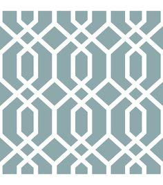 WallPops® NuWallpaper™ Blue Montauk Lattice Peel & Stick Wallpaper | Online Only Product