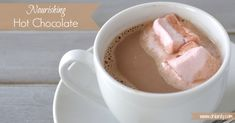This nourishing hot chocolate recipe is a delicious, nutrient dense way to warm up this winter!