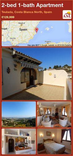 2-bed 1-bath Apartment in Teulada, Costa Blanca North, Spain ►€129,999 #PropertyForSaleInSpain