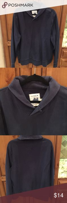 """J Crew Factory Cowl Neck Pullover XL Very good used condition, no flaws , slight color fade. Mens J Crew Factory Navy Pullover XL. 100% Cotton Armpit to armpit measures 23"""" Length is 29"""". Thanks for looking. Please take a peek at my other listings.  Thank you for the shares. Bundle and save!!! J. Crew Factory Shirts Sweatshirts & Hoodies"""