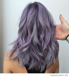 Beautiful lavender hair color idea