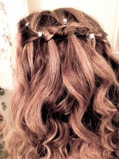Waterfall braid. #waterfall #braid #prom #hair #pretty
