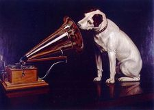 """One of the best known Collectible Advertising Icons of the early 20th Century was not an Actor or historical figure, but a dog, the famous RCA symbol """"Nipper"""". This accomplished Barraud received ($485 US) for the painting."""