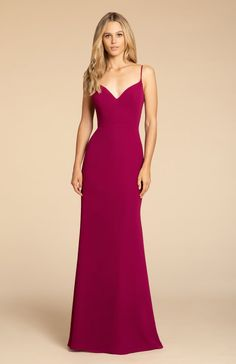 b6a4ee23f3 Style 5910 Hayley Paige Occasions bridesmaids gown - Azalea chiffon A-line  gown