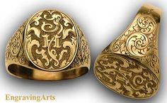 signet rings engraved