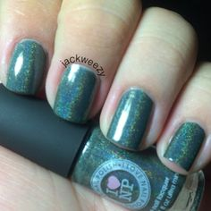 Army Surplus by I love Nail Polish. Top/base by Glisten and glow. Dried by our USpicy Seashell Fan. Photo by jackweezy on Instagram