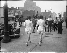 women shorts car crash