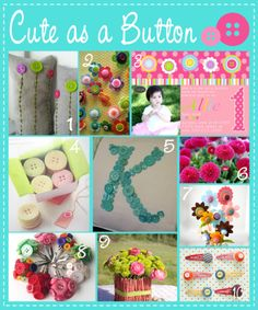 Cute as a Button Ideas