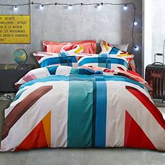 Thousands of images about british themed bedrooms on for Union jack bedroom ideas