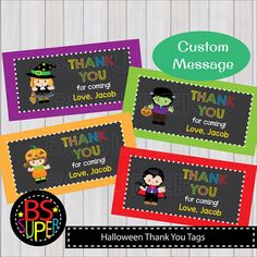 Halloween Party Favor Tags Halloween Treat Bag Toppers