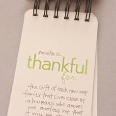 'thankful for' mini-journal printable and tutorial