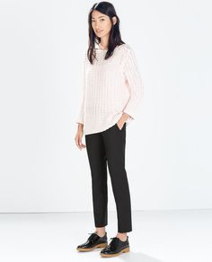 ZARA - WOMAN - ASYMMETRIC HEM SWEATER