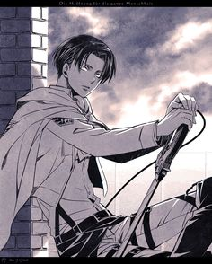 Shingeki no Kyojin / Attack on Titan ~~ Sexy man against the setting sun :: Levi